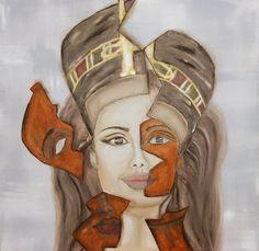 Gestaltet für die mystische Aktion von KunstRaub Nr. 3  Die Frau hinter der Maske. Das Mädchen ohne Krone. (Wie) war sie wirklich? Oder nur ein M...