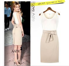 Aliexpress.com : Buy Summer 2013 Dresses New Celebrity Women Office Lady Work Dresses Plus Size Sleeveless Dresses S,M,L,XL 6001 from Reliable dress to wear to a wedding as a guest suppliers on  K-Sky Boutique