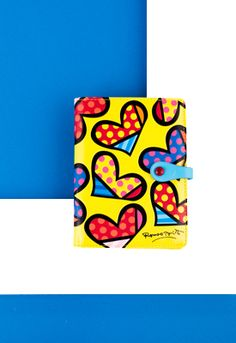 YELLOW HEARTS passport holder $32