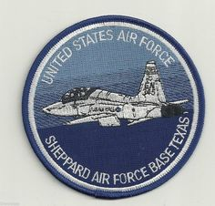 Sheppard Air Force Base Texas USAF Blue Embroidered Patch for sale online