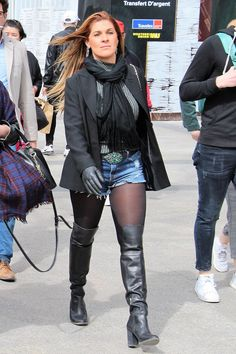 Thigh High Boots, Over The Knee Boots, Slouchy Boots, Black Pantyhose, Cool Boots, Amazing Women, Heeled Boots, Denim Jeans, Tights