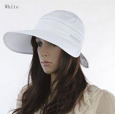 9e81e335323 Women s Hats 2017 Summer Fashion Korean Style Bowknot Big Visor Cap Color  Matching Beach Sun Hat