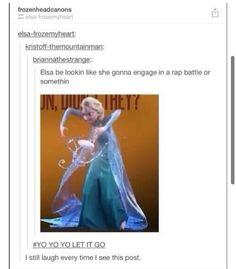 Queen Elsa, rapper of Arendelle