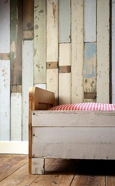 scrapwood wallpaper by Piet Hein Eek from www.bodieandfou.com