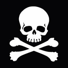 Jolly Roger Totenkopf Pirate Skull Crossbones Auto Laptop Motorrad Aufkleber