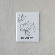 Our graphic interpretation of the NYC transit system as a beautiful, letterpress notecard. Printed with 100% cotton Reich Savoy paper and eco-friendly inks, these cards are the perfect way to send a message. Blank inside and includes matching A2 envelope. PLEASE NOTE: Orders typically process in 1-3 business days.