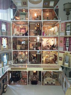 Custom Made Miniature Dollhouse Mansion House Wood MDF Stucco 1 12 Scale | eBay (jt-pic 2/2 - see the exterior of this customised dolls house mansion pinned alongside)