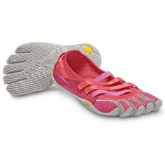 Vibram FiveFingers Womens Alitza, 13W0406, Pink/Grey. The Women's Alitza is the spiritual successor to the classic Sprint style. Built for today's active lifestyle, the Alitza is a cool, casual crossover.  Available in more colors.