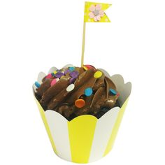 Wrapables Standard Size Striped Cupcake Wrappers (Set of 20), Yellow -- Hurry! Check out this great item : Baking tools