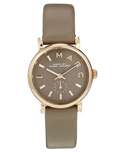 gray leather strap marc jacobs watch