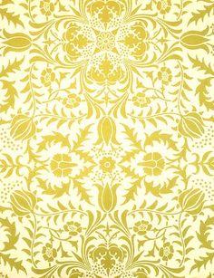 William Morris Borage woodblock print ceiling paper, 1889, no longer in production.