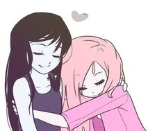 Marceline and Princess Bubblegum are best freinds!