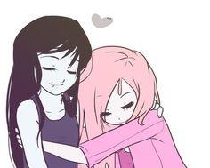Marceline and Princess Bubblegum are best freinds!