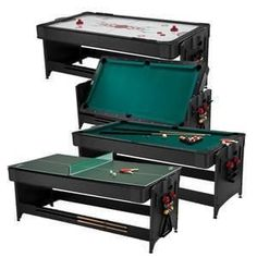 Fat Cat Original Pockey®️️ 3 In 1 Game Table – All of the most popular games are now at your disposal, in a third of the space with the Fat Cat Pockey Table! This revolutionary multi-game table design offers an unprecedented three of the most popul Air Hockey Games, Multi Game Table, Space Saving Table, Pc Gaming Setup, Most Popular Games, Last Game, Different Games, Gaming Accessories, Table Games
