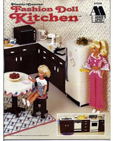 Fashion Doll Kitchen Plastic Canvas Pattern by grammysyarngarden, $20.00