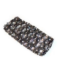Black & Silver Flower Bracelet