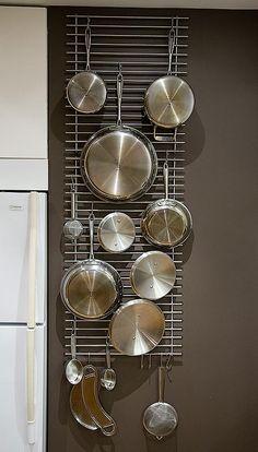 Wall hanger grid from Lämplig trivets mod - IKEA FANS