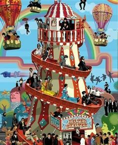 BEATLES-blotter ART Yellow Submarine Psichedelico