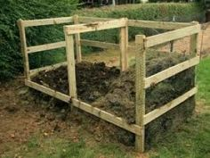 compost bin- simple containment. keeps the wood off the ground