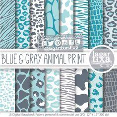 Un favorito personal de mi tienda Etsy https://www.etsy.com/mx/listing/215853385/animal-print-azul-gris-piel-animales