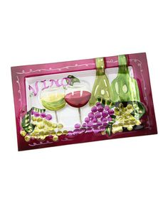 Take a look at this DEI Green & Purple 'Vino' Tray by Dennis East International on #zulily today!