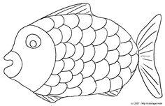 Coloriage de Arc-en-ciel le poisson