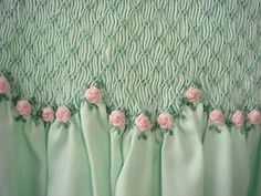 Smocking with roses