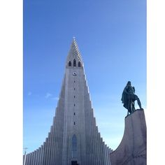 Hallgrímskirkja and Leif Erikson. You can see this church from anywhere in Reykjavik, and it's design is so amazing. It's based on the…