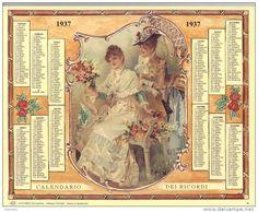 Calendario dei ricordi anno 1937
