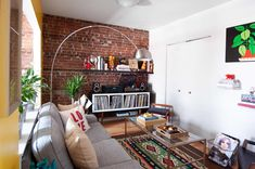 A Couple Gets Creative With the Layout of Their Small, Colorful Rental: gallery image 1