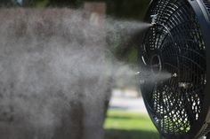 """6/"""" Cool Mist 2-Nozzle Clip-on Fan Mister Misting Ring"""