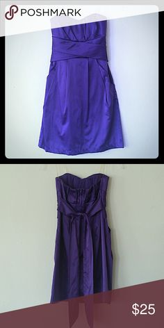 Royale purple strapless dress Great condition, elastic not stretched out, has pockets! Teeze Me Dresses Strapless