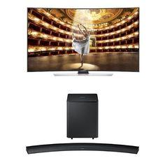 Samsung UN65HU9000 TV with HW-H7500 Curved Soundbar