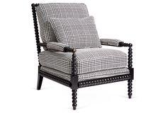 Helen Spindle Chair, Black | One Kings Lane