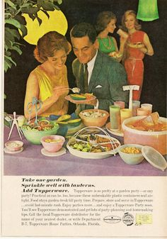 Retro Kitchen Home Decor Tupperware Vintage by StarvingPackrats, $9.95