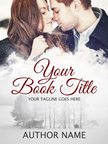 Romantic winter premade eBook cover - perfect for a beautiful and heart-warming romance. My premade covers are sold only once!