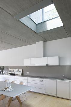 Kitchen in Lleida, Spain #architecture #interiors #design #kitchen #white #minimalist
