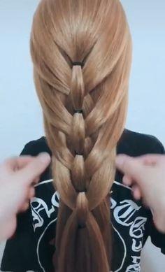 Easy Hairstyles For Thick Hair, Hairdo For Long Hair, Cute Simple Hairstyles, Braided Hairstyles, Hair Style Vedio, Girl Hair Dos, Hair Up Styles, Hair Creations, Hair Videos