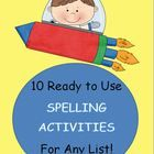 FREE! This is a packet of 10 creative spelling activities that are ready to print and use tomorrow in your class.  #spelling