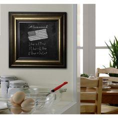American Made Rayne Stepped Antiqued Blackboard/Chalkboard (21 x 27)