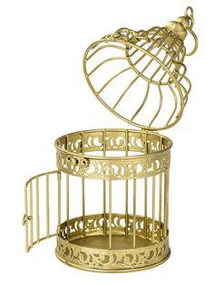 Party Ark's 'Gold Metal Birdcage' £6.95