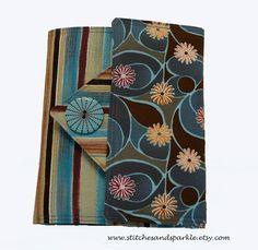 Earthtone MultiColored Striped Ereader Cover by StitchesandSparkle, $20.00