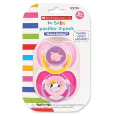 Scholastic™ Pacifier 2-Pack
