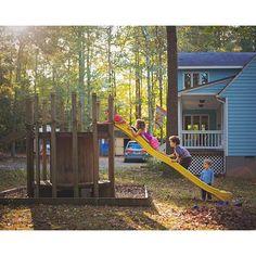 wire spool playground