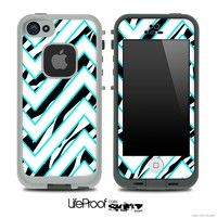 Large Chevron and Zebra Print V2 Skin for the iPhone 5 or 4, 4s Lifeproof Case