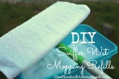 How to Make Your Own Swiffer Wet Mopping Refills. I love the ease of swiffer mops, but I am not a huge fan of paying ten bucks for the refills. Good news, though: You totally don't have to buy the refill pads. You can make your own pads and cleaner, and then toss them into the washer for next time...