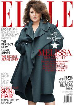 Melissa McCarthy looks super glam on Elle's November cover.