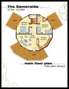 Geodesic Dome Home - The Esmeralda Model - 750sf