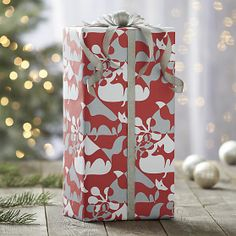 Fox Gift Wrap | Crate and Barrel.