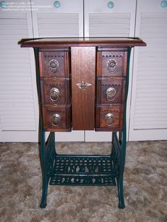 treadle sewing machine base and drawers